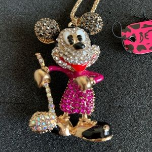 Betsey Johnson Mickey Mouse Necklace
